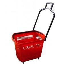 Корзина-тележка на 4 колесах пластиковая 45л.